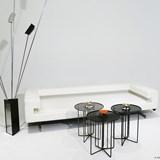 Side table S2 – Version 1 alu orange et acier noir 5
