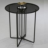 Side table S2 – Version 2 brass and black steel 2