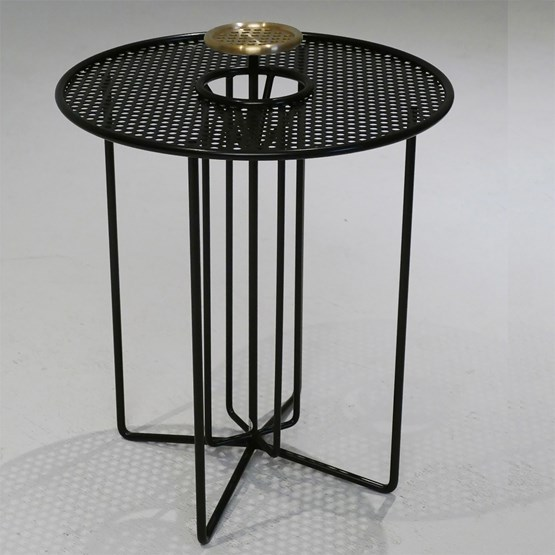 Side table S2 – Version 2 brass and black steel - Design : AG L.O.B.
