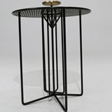 Side table S2 – Version 2 brass and black steel 6