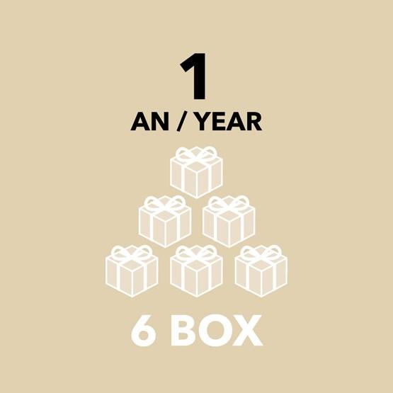 Abonnement - 1 an / 6 box - Design : DesignerBox