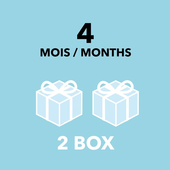 Gift Card - 4 months / 2 boxes - Design : DesignerBox