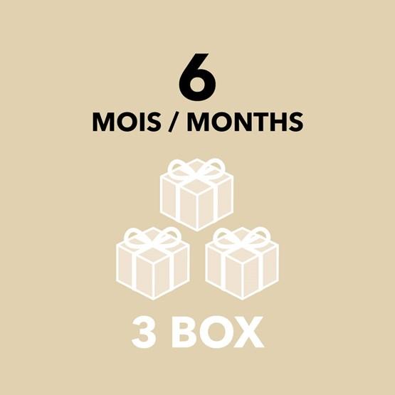 Gift Card - 6 months / 3 Box - Design : DesignerBox