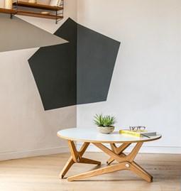 Table relevable CLASSIQUE - Blanc Nuage