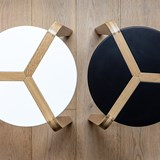 Tabouret empilable - Blanc 4
