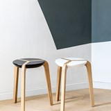 Tabouret empilable - Blanc 8
