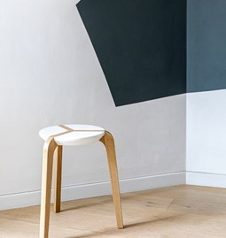 Tabouret empilable - Blanc