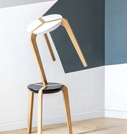 Tabouret empilable - Noir
