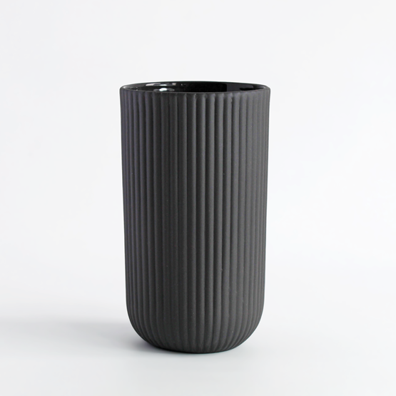 Set de 4 mugs | 220 ml | gris anthracite - Design : Archive Studio