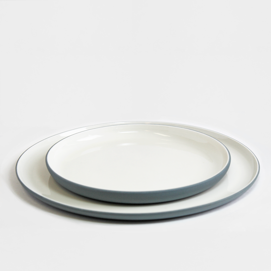 Set repas | bleu (16 assiettes) - Design : Archive Studio