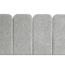 Headboard PAN – Light Grey - Velvet Palma