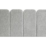 Headboard PAN – Light Grey - Velvet Palma 5