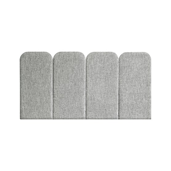 Headboard PAN – Light Grey - Velvet Palma - Design : Nuée Edition