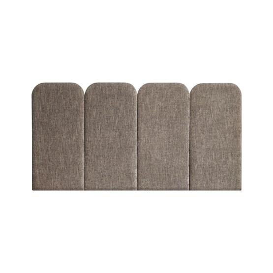 Tête de Lit PAN - Taupe - Velvet Palma  - Design : Nuée Édition