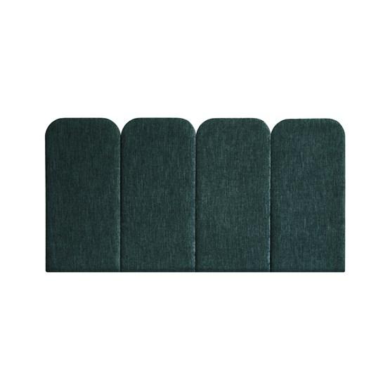 Headboard PAN – Green - Velvet Palma - Design : Nuée Édition