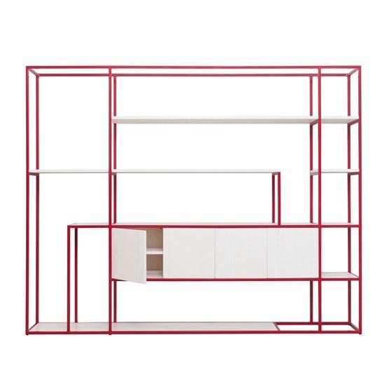 Étagère CELESTE - rouge rubis - Design : JOHANENLIES