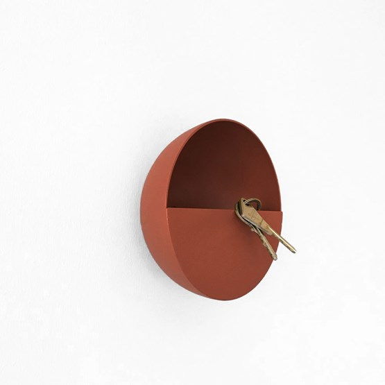 SPOK hook / pocket holder - Terracotta - Design : Koska