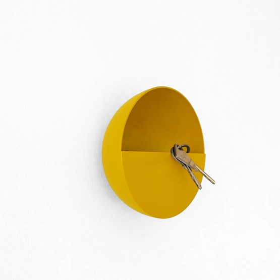 SPOK hook / pocket holder - Mustard - Design : Koska