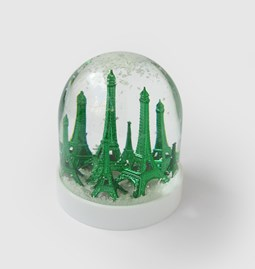 Forest snow globe