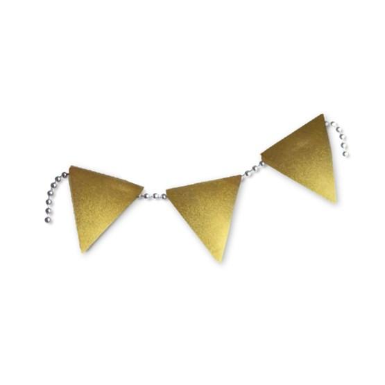 Broche en porcelaine Lost Party Flag - doré - Design : Stook Jewelry