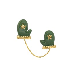 Mittens pin - green