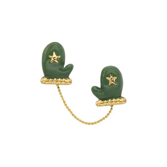 Mittens pin - Green - Design : Stook Jewelry