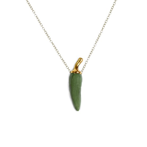 Pepper necklace - green - Design : Stook Jewelry