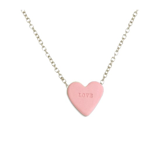 Candy heart necklace - LOVE - pink  - Design : Stook Jewelry