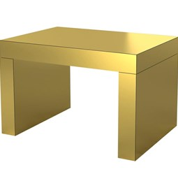 Coffee Table Gaby - Gold Brushed - aluminium