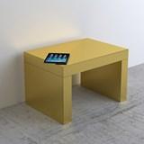 Gaby Banc/Table Basse Or  Brossé Aluminium 3