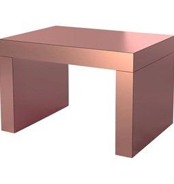 Gaby Banc/Table Basse  Or Rose Aluminium