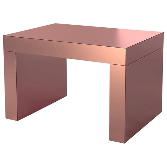 Gaby Banc/Table Basse  Or Rose Aluminium - Design : Chapel Petrassi