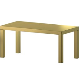 Hitan table - Gold Brushed- Aluminium