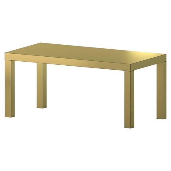 Table Hitan - Or brossé - Aluminium   - Design : Chapel Petrassi