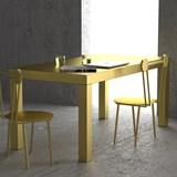 Table Hitan - Or brossé - Aluminium   4