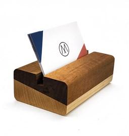 M Card - Wooden Card Holder