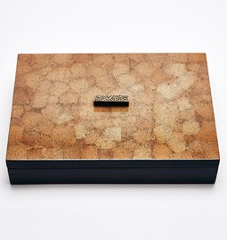 ELLA rectangular box - brown eggshell