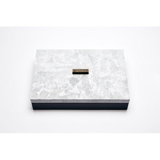 BOITE ELLA RECTANGULAIRE - COQUILLE D'OEUFS BLANCHE  - Design : Reda Amalou Design