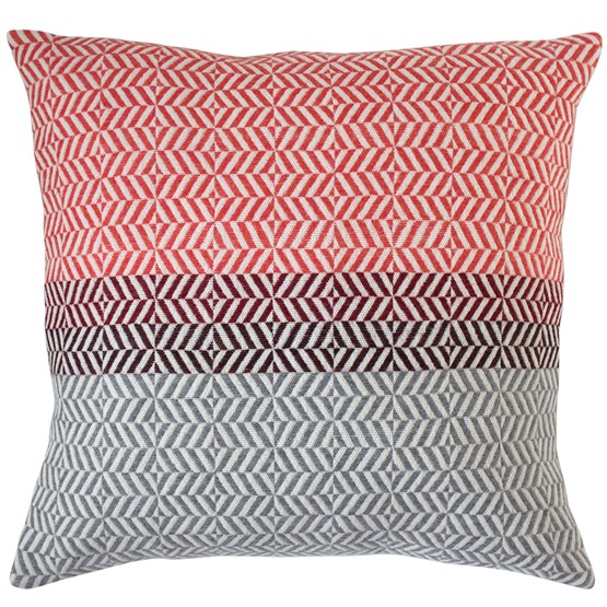 Coussin Uccle - Papaye - Design : Pamela Print