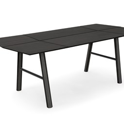 SAVIA dining table - Black wood / Black details