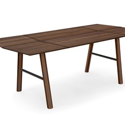 SAVIA dining table - Dark wood / Black details