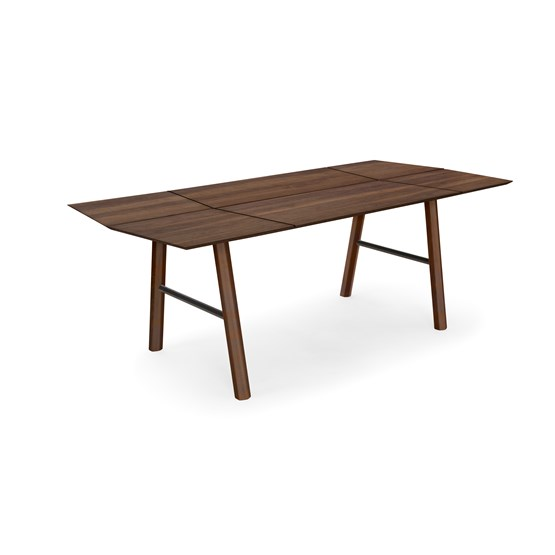 SAVIA dining table - Dark wood / Black details - Design : WOODENDOT