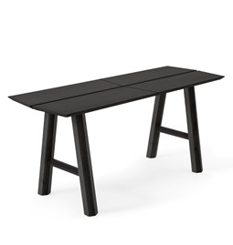 SAVIA Bench - Black wood / Black details