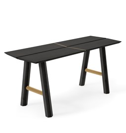 SAVIA Bench - Black wood / Gold details
