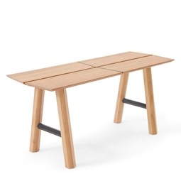SAVIA Bench - Clear wood / Black details