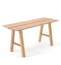 SAVIA Bench - Clear wood / Gold details