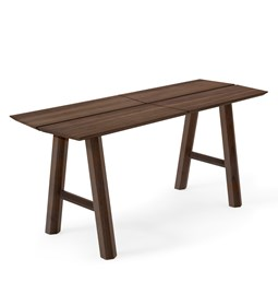 SAVIA Bench - Dark wood / Black details