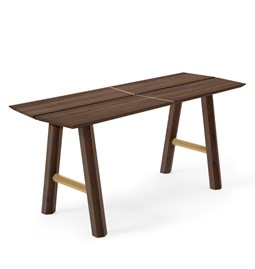 SAVIA Bench - Dark wood / Gold details