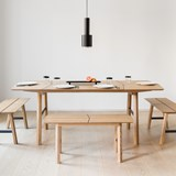 SAVIA Bench - Black wood / Black details 5