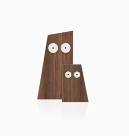 LES DUCS duo of wooden owls - Designerbox